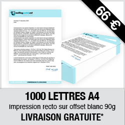 pack 1000 lettres A4